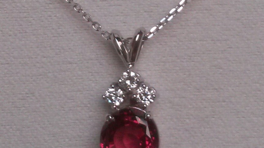 ruby red pendant